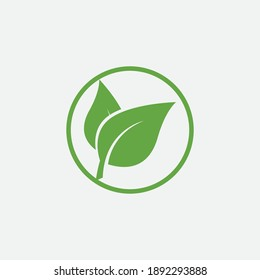 leaf vector illustration design icon logo template