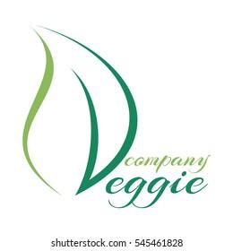 Leaf and vegetarianism logo