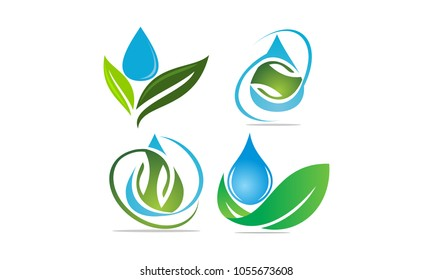 Leaf Water Template Set