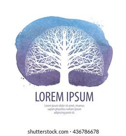 leafless tree logo. nature, ecology symbol