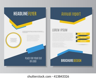 brochure design template vector flyer action のベクター画像素材