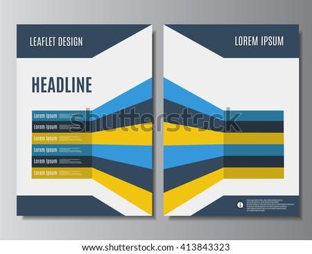 leaflet design printable brochure template flyer stock vector