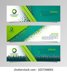 Leaflets 3 fold Template.Vector illustration.Can be used for presentation, flyer and leaflet, brochure, corporate report, marketing, advertising, annual report, banne.City skyline.