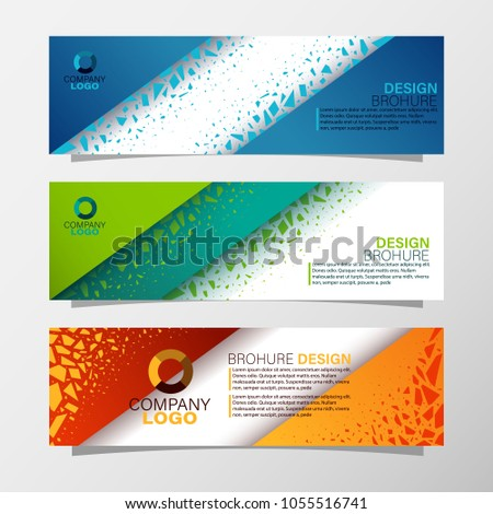 leaflets 3 fold template vector illustration be stock vector