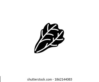 Leafy green vector icon. Isolated leafy green illustration