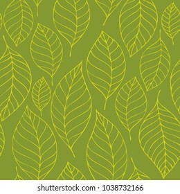 Leafy seamless background 6 - eps10 vector illustration.