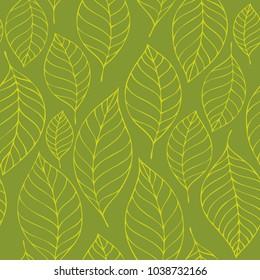 Leafy seamless background 6 - eps10 vector illustration.