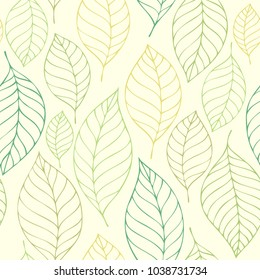 Leafy seamless background 7 - eps10 vector illustration.