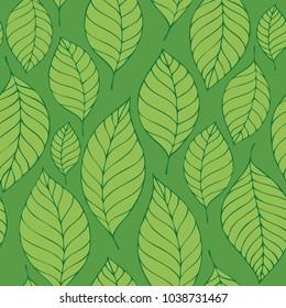 Leafy seamless background 8 - eps10 vector illustration.