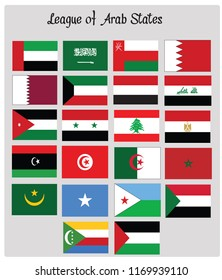 League of Arab States flags