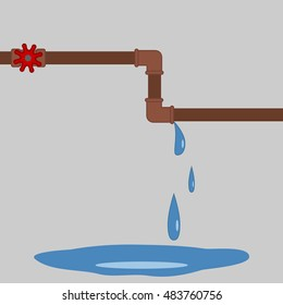 leaky pipes on a gray background
