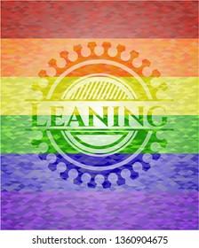 Leaning lgbt colors emblem