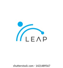 Leap vector logo. Leap icon.