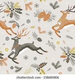 Leaping reindeer Christmas design