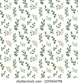 Lear Pattern Background Green Seamless Repeat