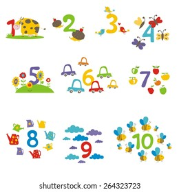 Learn to count numbers funny cartoon