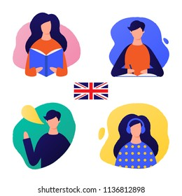 Learn English  vector illustration