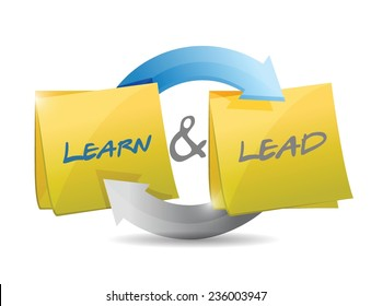 learn and lead cycle illustration design over a white background