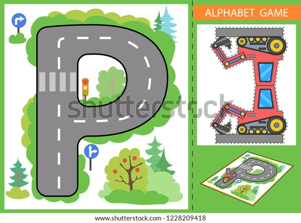 Learn Letters Alphabet Children Educational Game Stock Vector Royalty Free 1228209418