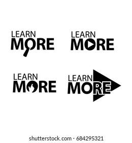 learn more. Creative lettering vector illustration. illustration in vector format.
