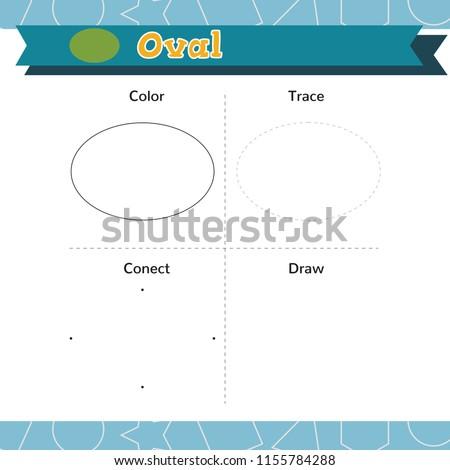 Learn Shapes Geometric Figures Preschool Kindergarten Stock Vector