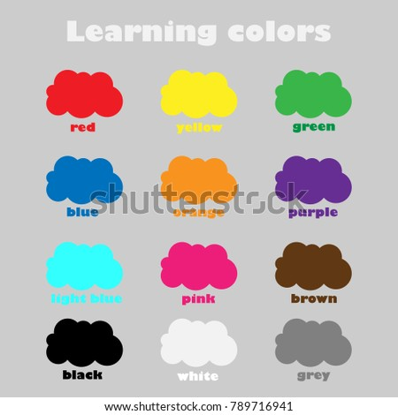 learning colors children fun education game stock vector royalty