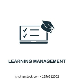 Learning Management System icon. Creative element design from content icons collection. Pixel perfect Learning Management System icon for web design, apps, software, print usage