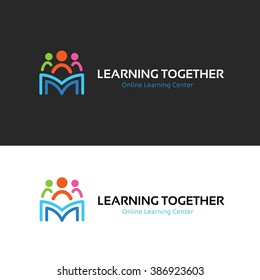 Learning together logo, Family and education brand identity.