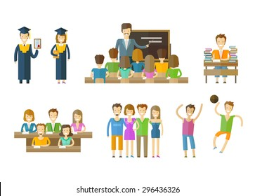 learning, tuition, schooling vector logo design template. school, seminary or education icons