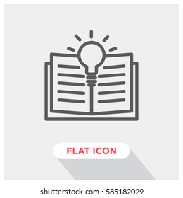 Learning vector icon, open book and training symbol. Modern, simple flat vector illustration for web site or mobile app