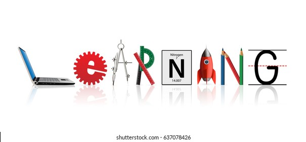 Learning word concept - Knowledge and elearning idea