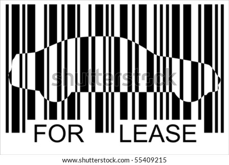 lease car barcode isolated over background stock vector royalty