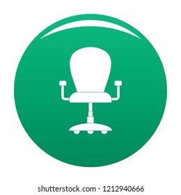 Leather armchair icon. Simple illustration of leather armchair vector icon for any design green