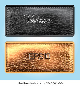 Leather background. Vector