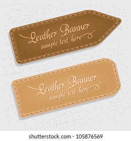 leather banners