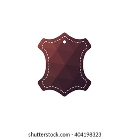 Leather - hundred % original. Template sign for the label, logo, advertising, products made of leather.
