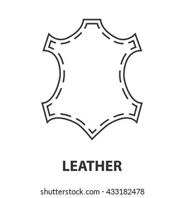 Leather icon or logo line art style. Vector Illustration.