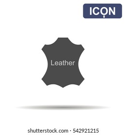 Leather icon vector