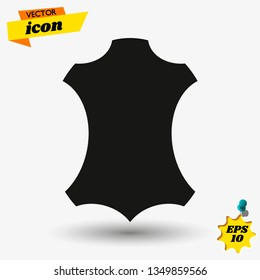 Leather icon Vector illustration