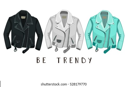 Leather Jacket. Be trendy.
