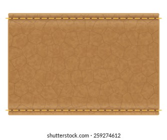 leather label for jeans vector illustration isolated on white background