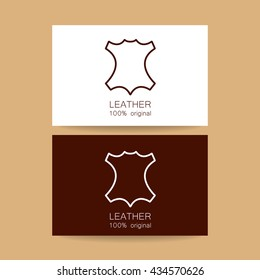 leather logo images stock photos vectors shutterstock https www shutterstock com image vector leather logo identity design card template 434570626