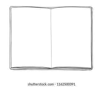 leather notebook  background hand drawn vector line art illustration