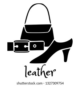 leather goods logo images stock photos vectors shutterstock https www shutterstock com image vector leather products icon symbol sign logo 1327309754