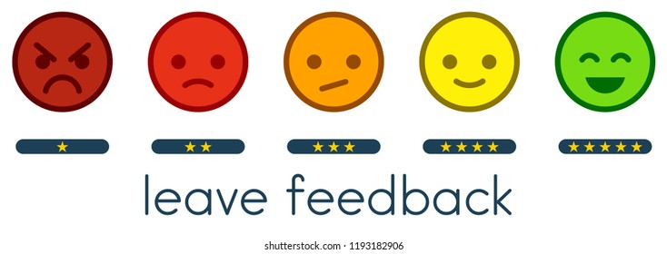 Smiley Rating Scale Images, Stock Photos & Vectors | Shutterstock