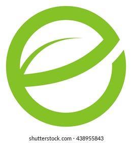 Letter e leave logo design stock photo photo vector illustration leave letter e in circle logo design altavistaventures Images