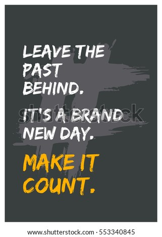 Leave Past Behind Brand New Day Stock Vector (Royalty Free