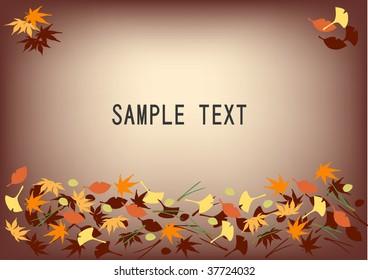 leaves  in autumn   illustration