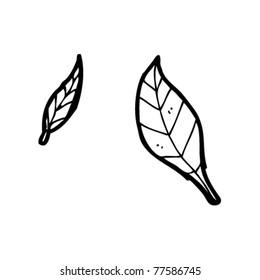 leaves cartoon