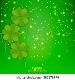 Leaves clover. Saint Patrick's Day vector illustration design.